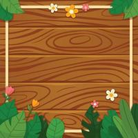Wood and Foliage Background vector