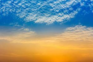 Beautiful cloudy sky and sunlight backgroung photo