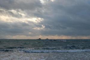 Beach and sky in slow door photography photo