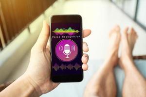 Speech detect, Voice Search, Speech recognition concept photo