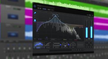 Multitrack of sound audio wave on Monitor and EQ Mixed. photo