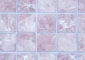Vintage old ceramic tiles wall photo