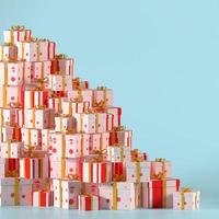 Fondo de caja de regalo 3d para promoción de venta de año nuevo foto