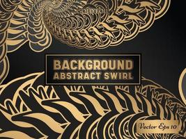 Abstract Swirl Gradient Decorative Gold Foil Background vector
