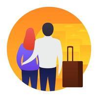Trendy Honeymoon Concepts vector