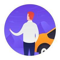 Hiring Cab Concepts vector