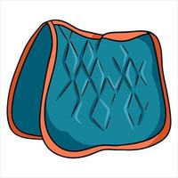 Horse harness saddle cloth for riding vector illustration in cartoon style