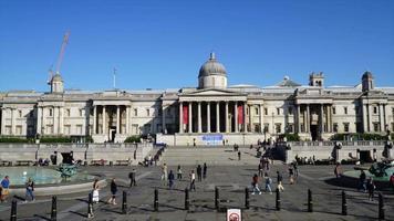 timelapse Trafalgar Square in London City England video