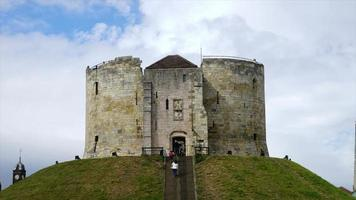 timelapse Clifford's Tower at York City in UK video