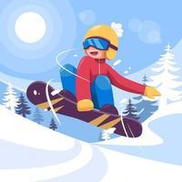 Winter Sport Illustration vector