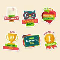 Happy Teacher's Day Sticker vector