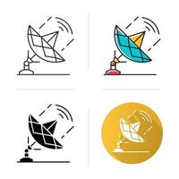 icono de la industria de las telecomunicaciones vector