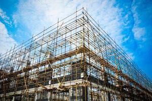 construction silhoue blocktte photo