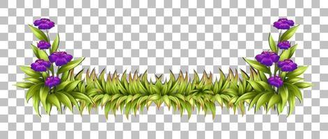 Green nature leaves frame grid background vector