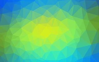 Light Blue, Yellow vector blurry triangle pattern.