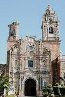 Vertical shot of San Francisco Acatepec church in Puebla, Mexico photo