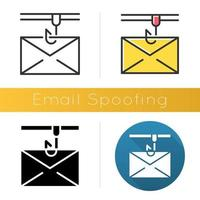 Email spoofing icon vector