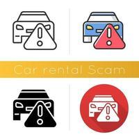 Car rental scam icon vector