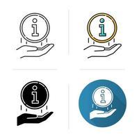 Information industry icon vector