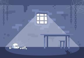 Conjunto de ilustraciones vectoriales planas de celda de prisión vacía vector