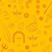 durga puja seamless pattern background vector illustration
