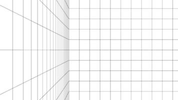 Dimension digital background with black grid space line color. Network cyber technology. banner, cover, terrain, sci-fi, wireframe, and related to background. vector
