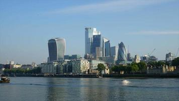 Timelapse London City with Thames River video