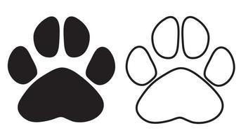 Black paw print. Vector illustration