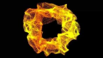 glow particle fractal circle loop animation video
