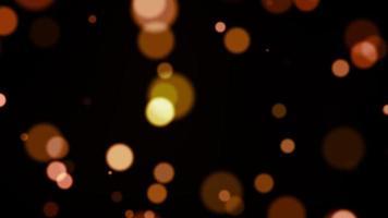 animation de boucle de particules bokeh orange video