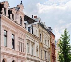 buildings in cologne from the late nineteenth century restored with pastel colours photo