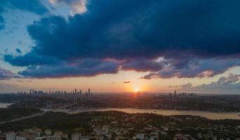 sunset istanbul  bosphorus panorama photo