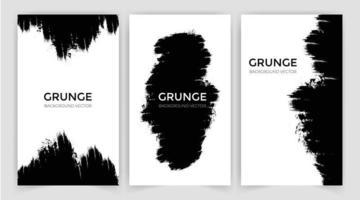Brush vector stroke set. Vector paintbrushes set. Grunge design elements. Rectangle text boxes, speech bubbles