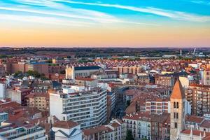 Vista de la ciudad de Valladolid en España desde el aire foto