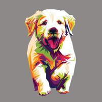 Dog cat pop art vector