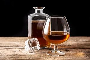 Cognac or whiskey drink photo
