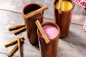 Traditional Mexican atole drink photo