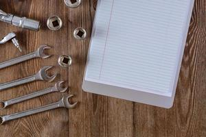 Auto mechanic tool kit has prepared tools hexagon wrenches for repair photo