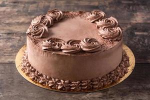 trozo de tarta de trufa de chocolate foto