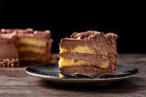 Pastel de trufa de chocolate foto