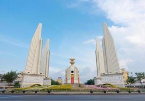 Bangkok, Thailand- Democracy monument with blue sky in Bangkok photo