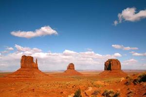 Landscape of Three Monument Valley Buttes photo