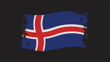 Iceland Wavy Flag Independence And National Day vector