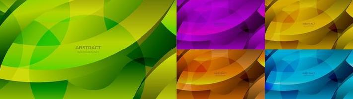 Abstract background colorful gradient green, purple, yellow, orange and blue color. Vector illustration