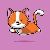 Cute Cat Running Illustration vector
