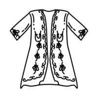 Ottoman Sultans Robe Icon. Doodle Hand Drawn or Outline Icon Style vector