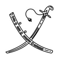 Ottoman Sword of State Icon. Doodle Hand Drawn or Outline Icon Style vector