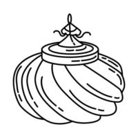 Ottoman Sultan Hat Icon. Doodle Hand Drawn or Outline Icon Style vector