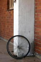 Abandoned Wheelchair Wheel photo