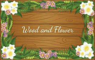 Wood and Foliages Background vector